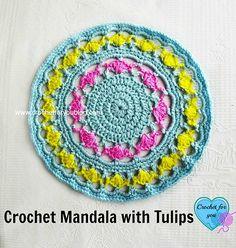 Crochet Mandala with Tulips – free pattern