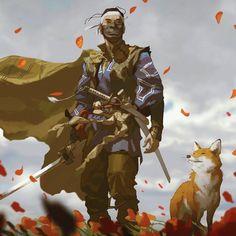 Samurai Tattoo, Samurai Art, Character Art, Character Design, Ghost Of Tsushima, Architecture Tattoo, Japanese Characters, Cg Art, Dope Art