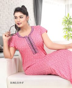 Keeping India's Tradition Night Gown Dress, Sexy Night Dress, Night Dress For Women, Night Wear, Cotton Saree Blouse Designs, Bridal Blouse Designs, Fancy Kurti, Kurta Neck Design, Fancy Gowns