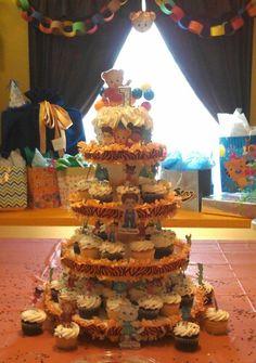 Daniel Tiger Birthday Cupcakes.
