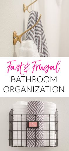 Fast bathroom organi