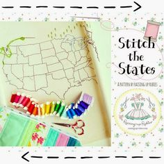 a little shop update ♥ stitch the states US map pattern