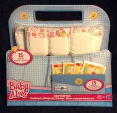 Baby Alive Super refill pack diapers & food #Hasbro #ClothingAccessories