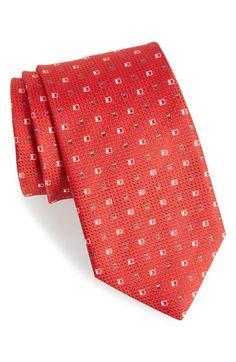 BOSS Geometric Medallion Silk Tie