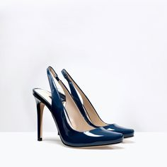 Image 4 of PATENT HIGH-HEELED MULES from Zara