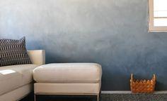 Ombre Wand streichen Wohnzimmer originell gestalten