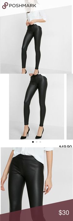 Express Faux Leather Leggings New Express leather leggings, new never worn perfect condition with tags, IN STORES NOW Express Pants Leggings