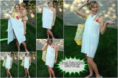 green tutorials- one handed sarong AND a green fabric flower | kojodesigns