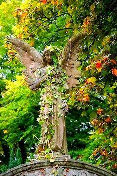 Strážný anděl zahrady.