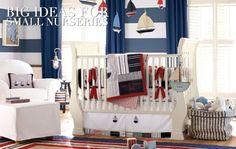 Baby Boy Room Inspiration // Nautical - The New Modern Momma Nautical Nursery Bedding, Baby Boy Crib Bedding, Baby Boy Cribs, Baby Bedroom, Kids Bedroom, Baby Room Themes, Baby Boy Room Decor, Baby Boy Rooms, Deco Marine