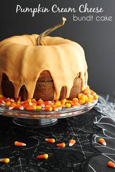 Pumpkin Cream Cheese Bundt Cake http://lecremedelacrumb.com/2013/10/pumpkin-cream-cheese-bunt-cake.html