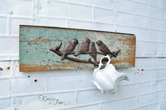 """Coat Racks from Salvaged Wood -Hometalk ::A few years ago, I bought a huge pallet of tongue and groove boards that were salvaged from a demolished historic courthouse. Most of it was a beautiful turquoise color that was perfectly chippy, but some boards had little or no paint on them. I've turned so many of those boards into functional coat racks. I love using wood with a """"past"""" and giving it a future!"""