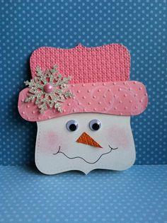 Schöne rosa weihnachtsmützen Weihnachtskarten selber basteln