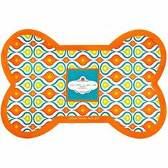 Jonathon Adler Orange Plume Dog Bowl Mat from Just a Touch of Everything