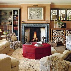 Living Room with Log Storage