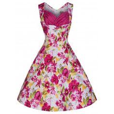 Ophelia Pink Oasis Dress | Vintage Inspired Fashion - Lindy Bop