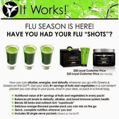 It Works! greens- full servings of fruits  veggies + energy!!!!  http://flawless40.wix.com/itworks
