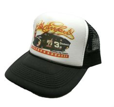 vintage Dale Earnhardt Nascar racing Trucker Hat snap back black #3 Goodwrench #truckerhats #TruckerHat Nascar Hats, Nascar Racing, Black Snapback, Snapback Hats, Vintage Trucker Hats, 5 Panel Cap, Black Windbreaker, Winter Hoodies, Snap Backs