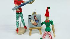 """Zieler on Instagram: """"Countdown to Christmas with our little elves a 12days of Christmas inspired creation. 3more sleeps and just a few more hours to get the…"""" Acrylic Paint Pens, Christmas Countdown, Elves, How To Get, Inspired, Outdoor Decor, Painting, Inspiration, Instagram"""