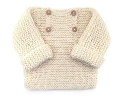By Mariza Crochet Designer: Blusa tricô para bebê com PAP.