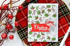 Simon Says Stamp   Stamping Holiday Pattern with Advent Holiday Icons (and dressing up critters for Christmas)