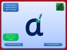 Interactive letter formation activities that are suitable for whole class or small group teaching. Click the magic pencil and watch how the letter should be formed. Plenty of opportunity for modelling and discussion. Children could have dry wipe boards and pens to attempt letters during the activity. Includes a version with looped f and k and another with straight f and k.