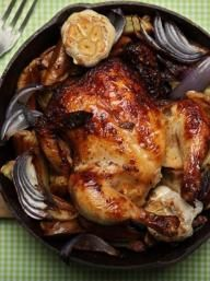 Cast-Iron Skillet Roasted Game Hen Recipe