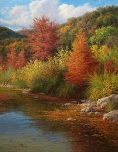 fall cypress oil painting by William Hagerman copyright 2012