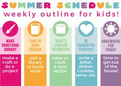 Tame the summer craziness with this fun Summer Schedule for Kids! Summer is just around the corner and I am so ready for it!! I love the lazy days at home with my kids – crazy, messy house an…
