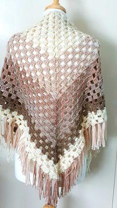 Crochet Ombre Shawl | AllFreeCrochet.com                                                                                                                                                                                 More