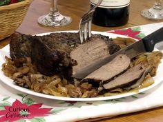 Slow Cooker Caramelized Mushroom Sirloin Tip Roast • Curious Cuisiniere