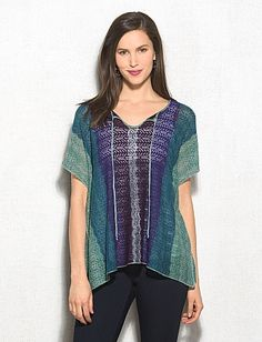 Blue & Green Pullover...so great for the changing seasons.  Great for that day at the park dressbarn sku 0426635