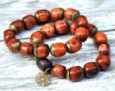 Gemstone Bone Beaded Bracelets by BeadRustic FREE by BeadRustic