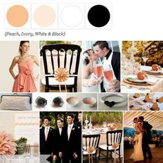 Gradients of peach balanced with sophisticated black