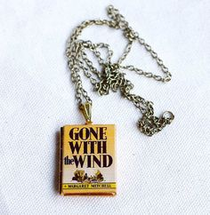 For Scarlett <3 Gone with the Wind Book Locket Necklace by junkstudio on Etsy, $20.00