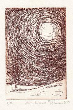 Novembersonne in Venedig - Radierung - Landschaft - Fine Art Print - braun - limitierte Auflage - Etching - Print - Ätzradierung von Xylistax auf Etsy