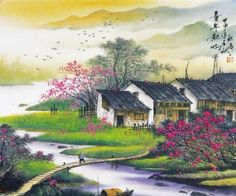 Coutry Living Chinese Style Wall Mural, 7-Feet 3-Inch By 6-Feet 1-Inch - Amazon.com