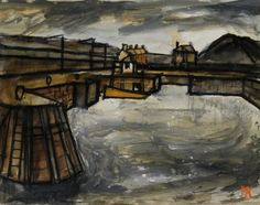 Inner Harbour Maryport by Percy Kelly