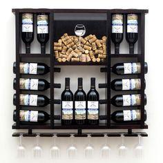 Wine Glass Rack, Wood Wine Racks, Wine Rack Wall, Wine Shelves, Wine Storage, Cheap Home Decor, Diy Home Decor, Wine Rack Design, Pallet Wine