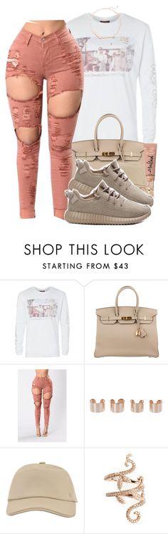 """12/23/16"" by xbad-gyalx ❤ liked on Polyvore featuring Hermès, Maison Margiela, Elise Dray, adidas and Kendra Scott"