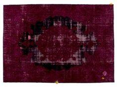 Tappeto fatto a mano rettangolare DECOLORIZED MOHAIR WINE - Golran