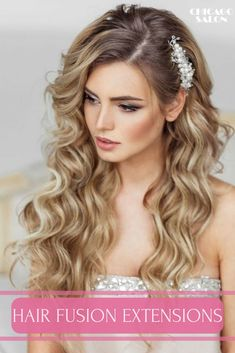 What are hair fusion extensions? How to care for them? Learn more .... #hair #hairtips #hairextensions #beauty #hairstyle #chicagohairextensionssalon #fusionhairextensions #weddinghairextensions #promhairextensions