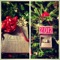 A creative way to save and put use to an important memory in your life! Turn your engagement ring/wedding ring box into a Christmas ornament! make sure to personalize it with the year so every year you are reminded how far you've come Holiday Crafts, Christmas Ideas, Christmas Tree, Christmas Ornaments, Holiday Decor, Wedding Ring Box, Wedding Engagement, Dream Wedding, Crafts To Do