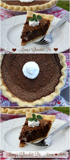 Mommy's KItchen Minny's Famous Chocolate Pie minus the terrible awful from the…