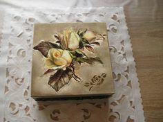 Krabičky - krabička s ružami - 7038106_