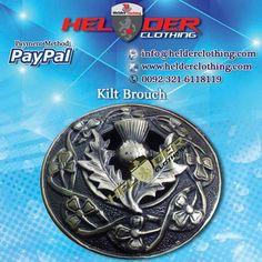 SCOTTISH THISTLE KILT BROOCH Artical No: HC-5019  Antique Brass Buckle Utility Kilt Sporran Scottish Kilt Pin
