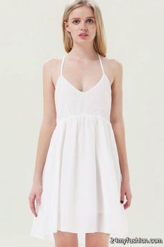 White pleated dress 2017-2018 » B2B Fashion