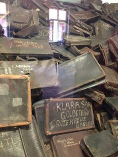 Auschwitz-the room of suitcases left behind