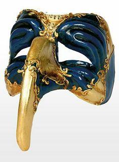 39,90€, Turchetto oro blu - Venezianische Maske
