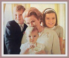 In this photo: princess grace princess caroline prince albert princess stephanie howell conant 1966